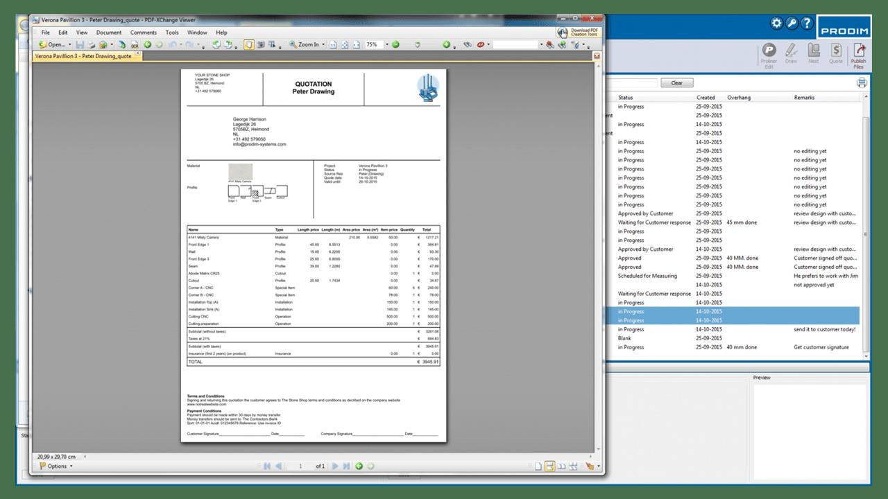 Скриншот - Prodim программного обеспечения Factory - КП