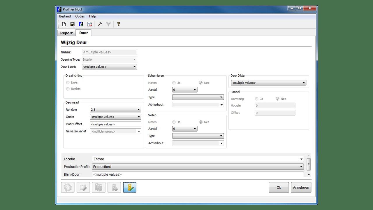 Скриншот - Prodim Proliner программного обеспечения Дверь