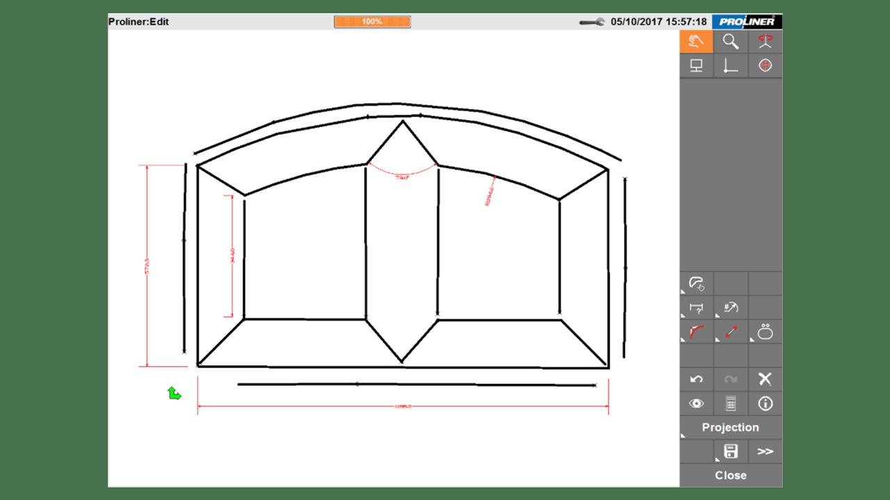 Скриншот - программное обеспечение Prodim Proliner CT - Дверь и Окно