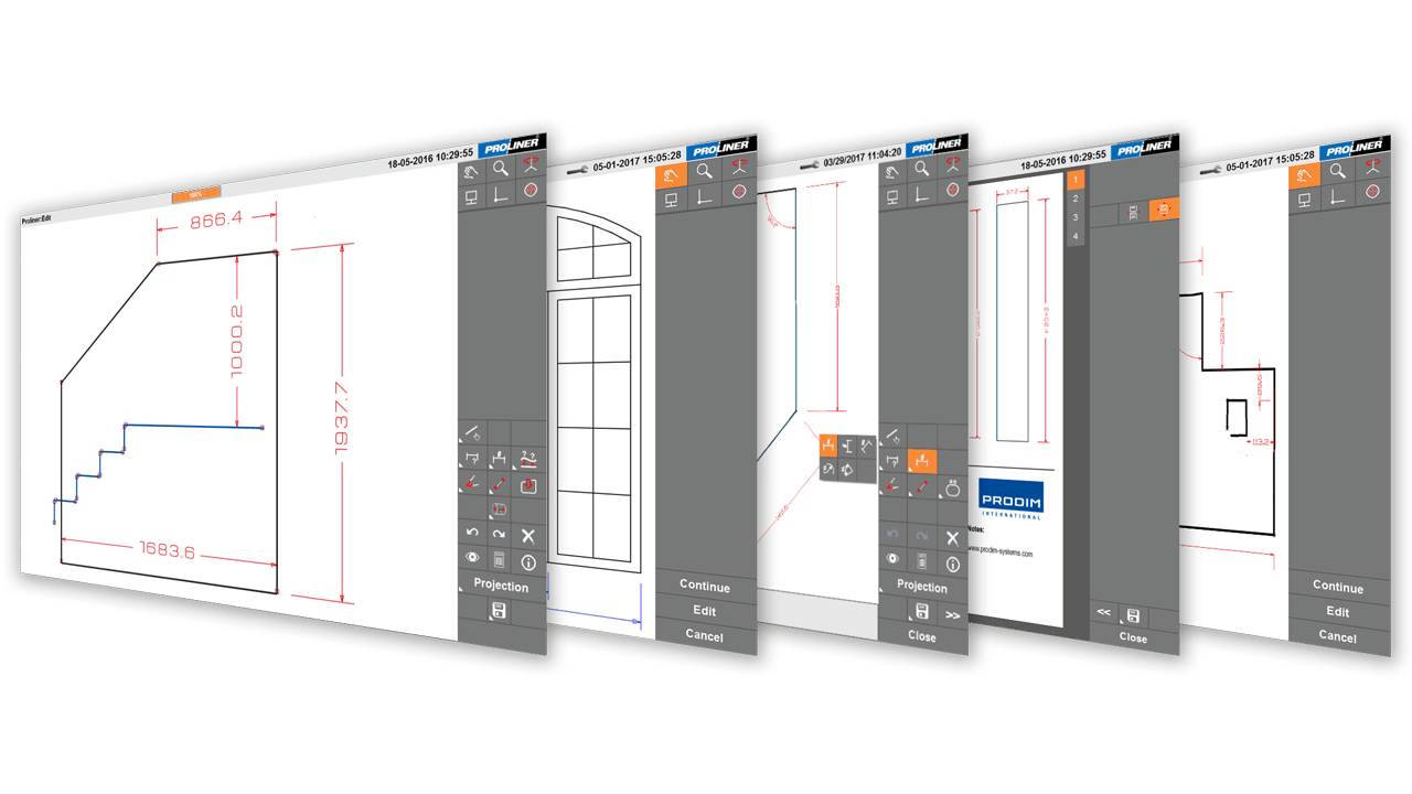 Prodim скриншоты - Proliner CT программное обеспечение Стекло