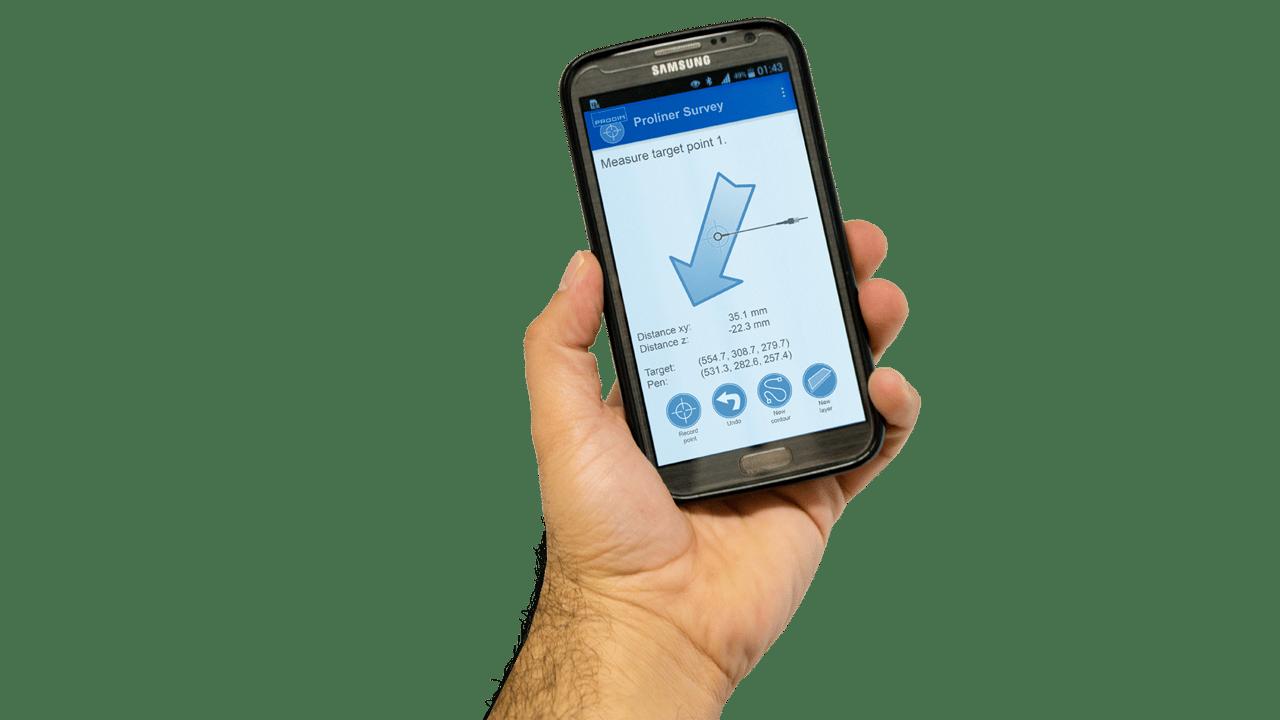 Prodim Proliner программное обеспечение Survey- мобильное приложение