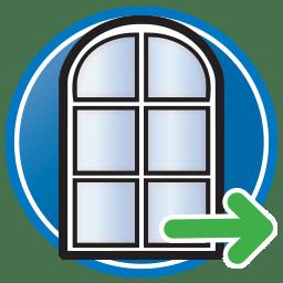 Кнопка для просмотра страницы Prodim в решение дверных и оконных рам