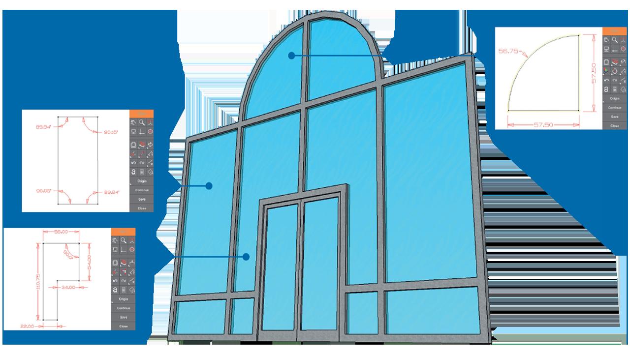 Скриншоты - Prodim Proliner программное обеспечение Дверь и Окно