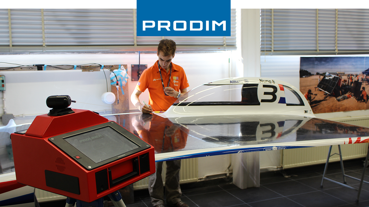 Prodim Proliner цифровой измерительный прибор - используется для контроля качества Nuna 8, солнечный автомобиль Nuon Racing Team