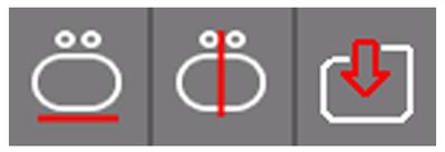 Иконки новых функций редактирования программного обеспечения Proliner Generation 4X